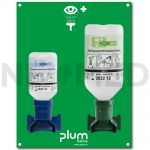 Σταθμός Πλύσης Οφθαλμών CombiStation με φιάλες pH Neutral 200ml & 0.9% NaCl 500ml του οίκου PLUM Δανίας