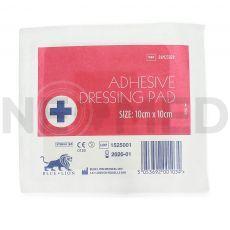 Αποστειρωμένο Αυτοκόλλητο Επίθεμα Γάζας 10 x 10 cm Adhesive Dressing Pad της Blue Lion Medical Αγγλίας