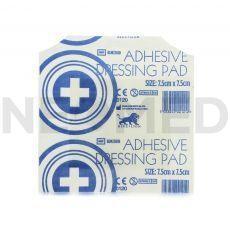 Αποστειρωμένο Αυτοκόλλητο Επίθεμα Γάζας 7.5 x 7.5 cm Adhesive Dressing Pad της Blue Lion Medical Αγγλίας