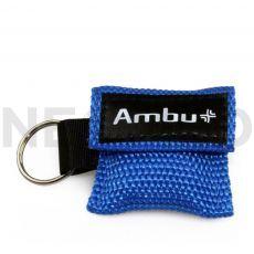 Μαντηλάκι Αναζωογόνησης σε μπρελόκ μπλέ Ambu Life Key