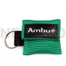 Μαντηλάκι Αναζωογόνησης σε μπρελόκ πράσινο Ambu Life Key