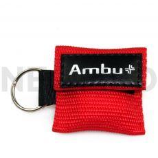 Μαντηλάκι Αναζωογόνησης σε μπρελόκ κόκκινο Ambu Life Key