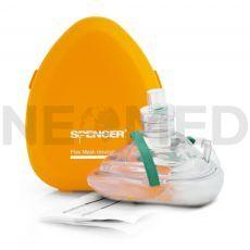 Μάσκα Ανάνηψης CPR Flex Mask σε πλαστική θήκη του οίκου Spencer Ιταλίας