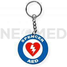 Μπρελόκ Αυτόματος Εξωτερικός Απινιδωτής AED του οίκου Spencer Ιταλίας