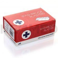 Λευκοπλάστες Αδιάβροχοι σε κουτί των 100 τεμαχίων διαφόρων διαστάσεων του οίκου Blue Lion Medical Αγγλίας