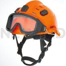Κράνος Ασφαλείας HPS 3500 Premium σε πορτοκαλί χρώμα με γυαλιά ασφαλείας του οίκου Dräger Γερμανίας