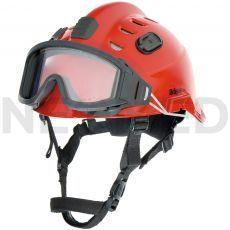 Κράνος Ασφαλείας HPS 3500 Premium σε κόκκινο χρώμα με γυαλιά ασφαλείας του οίκου Dräger Γερμανίας