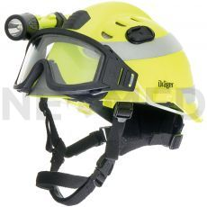 Κράνος Ασφαλείας HPS 3500 Premium σε κίτρινο χρώμα με γυαλιά ασφαλείας και αντανακλαστικές ταινίες 3Μ™ του οίκου Dräger Γερμανίας
