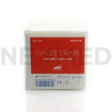 Επίθεμα Γάζας 7.5 x 7.5 cm σε συσκευασία 100 τεμαχίων Gauze Swabs του οίκου Blue Lion Medical