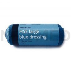 Επίδεσμος Τραύματος για Χώρους Εστίασης με Επίθεμα 18 x 18 cm MasterChef HSE Blue Large του οίκου Reliance Medical Αγγλίας