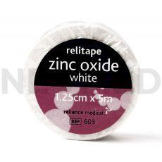 Ταινία Αυτοκόλλητη Στερέωσης Επιδέσμων Zinc Oxide 1.25cm x 5m του οίκου Reliance Medical Αγγλίας