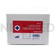 Αποστειρωμένη Αυτοκόλλητη Γάζα 7.5 x 7.5 cm σε Συσκευασία 100 Τεμαχίων του οίκου Blue Lion Medical Αγγλίας