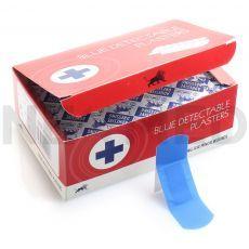 Λευκοπλάστες Ανιχνεύσιμοι Μπλε 2.5 x 7.6 cm Blue Detectable του Αγγλικού Οίκου Blue Lion Medical
