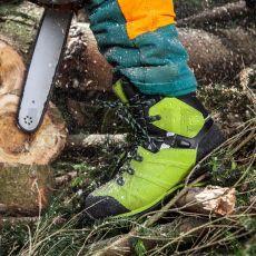 Άρβυλα Υλοτομίας και Δασικών Εργασιών Protector Ultra Lime Green από την HAIX