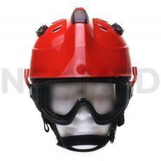 Κράνος Διασωστικό HPS 3500 Basic σε κόκκινο χρώμα με γυαλιά ασφαλείας της Γερμανικής Dräger
