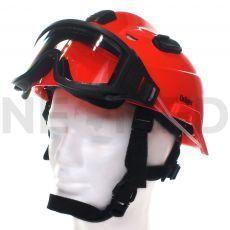 Κράνος Δασοπυρόσβεσης & Διάσωσης HPS 3500 Premium σε πορτοκαλί χρώμα με γυαλιά ασφαλείας του οίκου Dräger Γερμανίας