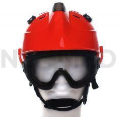 Κράνος Τεχνικής Διάσωσης HPS 3500 Premium σε πορτοκαλί χρώμα με γυαλιά ασφαλείας του οίκου Dräger Γερμανίας