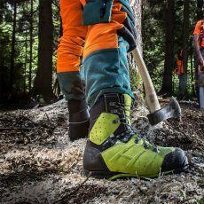 Μπότες Εργασίας Υλοτομίας Protector Ultra Lime Green της HAIX Γερμανίας