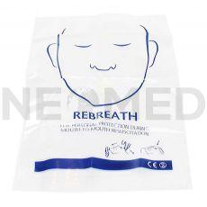 Προστατευτική Μάσκα Ανάνηψης Μιας Χρήσης Resuscitation Face Shield με Πλαστική Βαλβίδα του Αγγλικού οίκου Blue Lion Medical