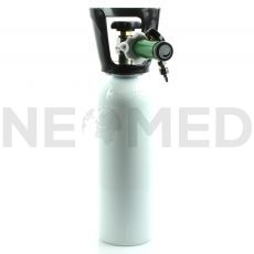 Ιατρικό οξυγόνο φιάλη αλουμινίου 2 λίτρων με βηματικό ροόμετρο και χειρολαβή