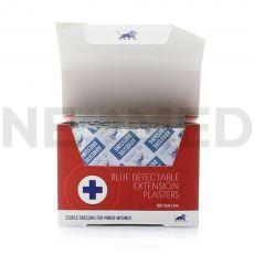 Ανιχνεύσιμοι Λευκοπλάστες Μπλε 12x2 cm σε κουτί 50 τεμαχίων του οίκου Blue lion Medical Αγγλίας