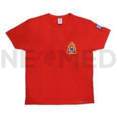 Μπλουζάκι Πυροσβεστικής T-Shirt σε Κόκκινο Χρώμα με Κέντημα Πυροσβεστικό Σώμα