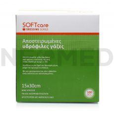 Αποστειρωμένες Γάζες SOFTcare 15 x 30 cm σε Συσκευασία 100 τεμαχίων
