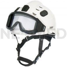 Κράνος Ασφαλείας HPS 3500 Basic σε λευκό χρώμα με γυαλιά ασφαλείας του οίκου Dräger Γερμανίας