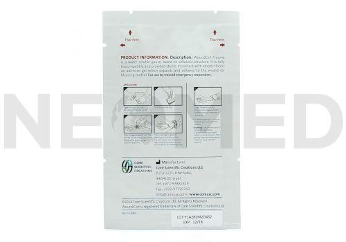 Αιμοστατικό Επίθεμα 8 x 20 cm Woundclot Trauma Gauze της Core Scientific Creations Ισραήλ