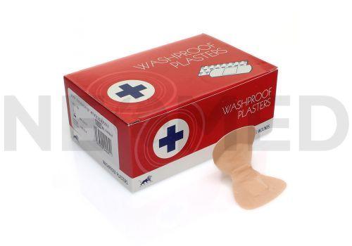 Αδιάβροχοι Λευκοπλάστες Δαχτύλου Washproof Plasters του Αγγλικού Οίκου Blue Lion Medical σε κουτί 50 τεμαχίων