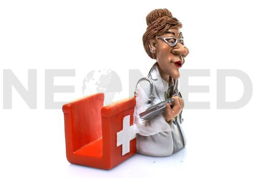 Θήκη Επαγγελματικών Καρτών για Γυναίκες Γιατρούς 10 cm από τη NEOMED