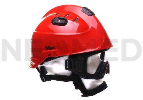Κράνος Δασοπυρόσβεσης HPS 3500 Basic Red με γυαλιά ασφαλείας του Γερμανικού οίκου Dräger