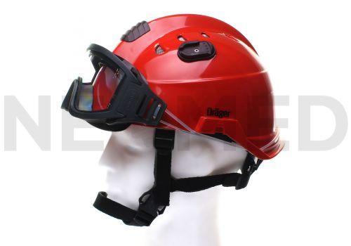 Κράνος Τεχνικής Διάσωσης με Γυαλιά Ασφαλείας σε κόκκινο χρώμα HPS 3500 Basic της Γερμανικής Dräger