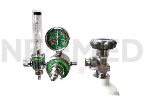 Φιάλη Οξυγόνου με Μανόμετρο και Ροόμετρο Στήλης Ελληνικής Κατασκευής