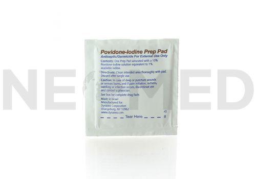 Μαντηλάκι Ιωδιούχο Αντισηπτικό Povidone-Iodine Prep Pad του οίκου Dynarex
