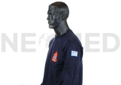 Μπλούζα Πυροσβεστικής Φούτερ με Κέντημα της Greek Forces